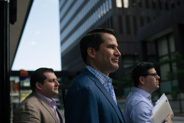 """Representative Seth Moulton, Democrat of Massachusetts, in 2019.""""This is one of the most complicated operations that the U.S. military has done in decades,"""" he said in a interview on Wednesday."""